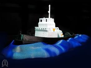Tugboat with Wake