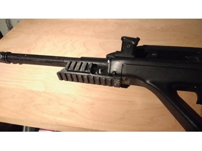 Aug front grip replacement picatinny rail
