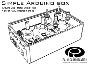Simple Arduino Box - room for shield, fan & controls
