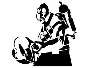 Pyro stencil