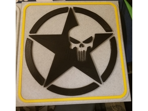 US Army logo with the Punisher