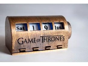 Game of Thrones Desk Calendar