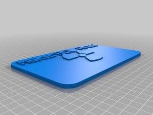 Sign - MakerBot Area - Radiation Symbol