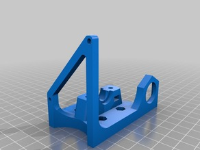 Flsun Prusa i3 E3D v6 X axis carriage and mount with accesories.