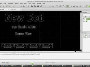 Lathe Bed ( DXF file for Miller , shaper , indexer , etc. )