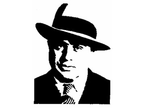 Al Capone stencil