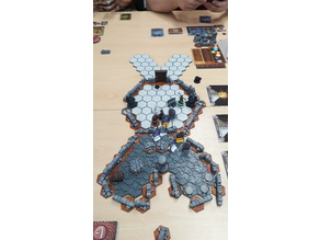 Hex Base system for Gloomhaven using magnetic balls (neocubes)