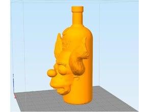 Simpsons Absolut Krusty Vodka bottle