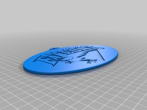 """Skyview Falcons"" keychain 3D-logo"