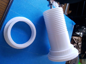 Filament spool flanged spacer