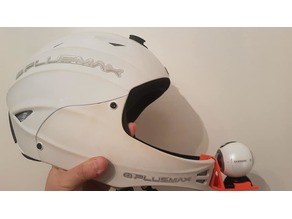 Paragliding helmet action cam support