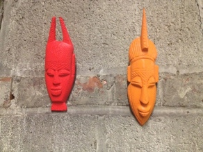 African Mask wall hanging set!