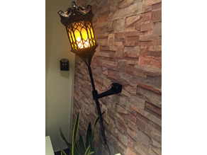 Flaming Wall Torch Clamp (based on IKEA Floor Lamp)