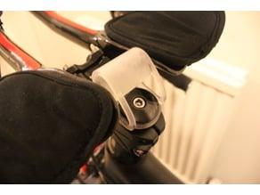 Bike headset/stem computer mount