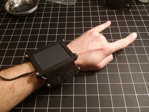Wearable Cyberpunk Gesture Pad