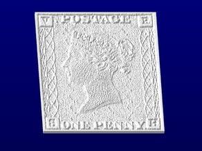 Penny Black Stamp Coaster