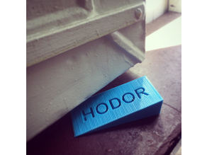 HODOR DOOR STOP - GAME OF THRONES https://3dprint.com/136169/ten-3d-printable-things-hodor/