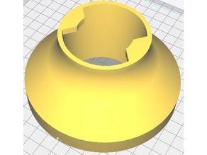 Moon lamp modified base for E27 Leroy Merlin holder