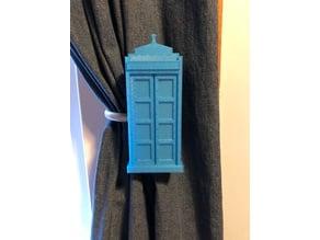 TARDIS Curtain Pull Back