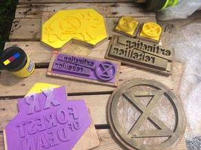 Extinction Rebellion Print Blocks