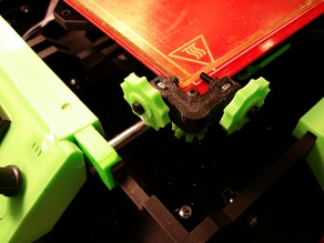 Reinforced Glass Clamp for Prusa I3