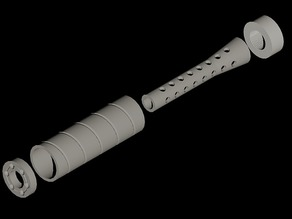 Baffeled suppressor for airsoft use only