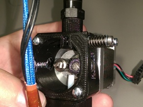 Direct drive extruder 1.75mm/3mm with J-Head/E3D mount in OpenSCAD