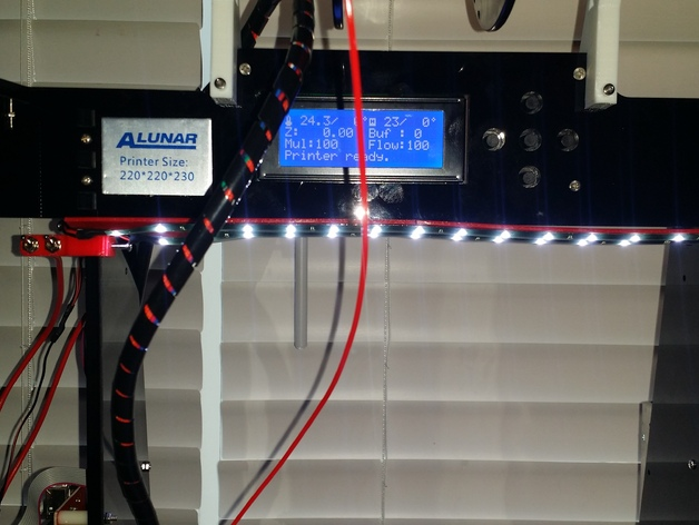 Alunar anet a8 led work light bar with power and light switch alunar anet a8 led work light bar with power and light switch mount bracket by jmperry71 thingiverse aloadofball Image collections