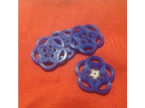 Buttons with a star pattern