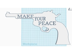"Wynonna Earp Colt .45 ""Make Your Peace"" Peacemaker Wall Sign"