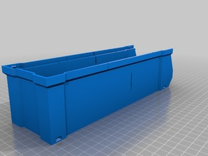 Mini (1.5x Scale) Long Stacking Box Storage Bin