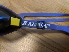 Swim goggles strap clip