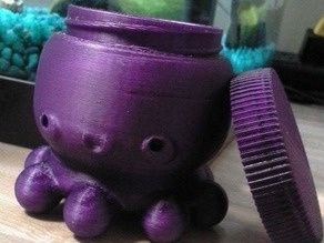 Kawaii Octopus - Threaded Holder/Container