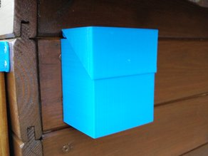 Simple box with hinged lid to fix on a wall