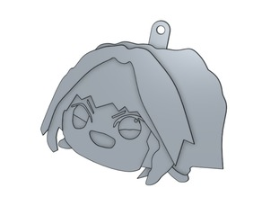 Haunted Astolfo bean plushie keychain