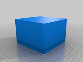 Stacking box with 4 flat sides