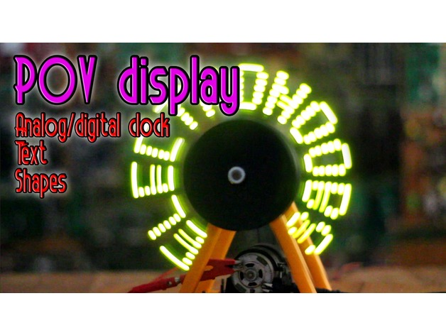 Arduino POV dsiplay by ELECTRONOOBS - Thingiverse