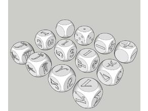 dice dF, d3x2, d6 variants