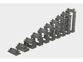 Slope V2 10 parts for OS-Railway - fully 3D-printable railway system!