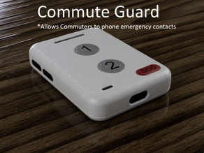 Commute Guard (Emergency phone for commuters) #wearablefusion #fusion360challenge