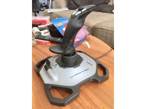 Inverted Logitech Extreme 3D Pro joystick handle