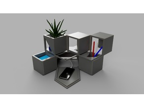 Cube-RT (Rotating Tower Desk Organizer)
