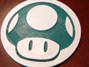 1-UP Mushroom Coaster
