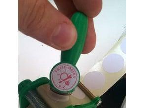rubber stamp knob 20mm