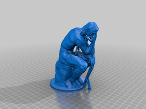 Rodin's -The Thinker-  with supports