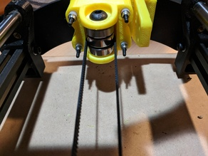 Extended Externally Accessible Y Belt Idler with Tensioner