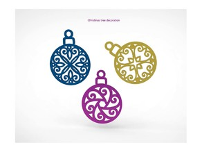Christmas tree decoration 3sets