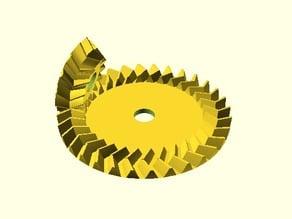 Parametrisches Pfeil-Kegelradpaar / Parametric Pair of Herringbone Bevel Gears