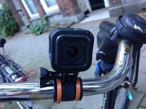 GoPro zip tie bike mount