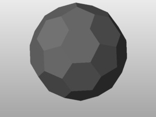 Truncated Icosahedron / Buckyball for vex robotics competition 2013 ready to print